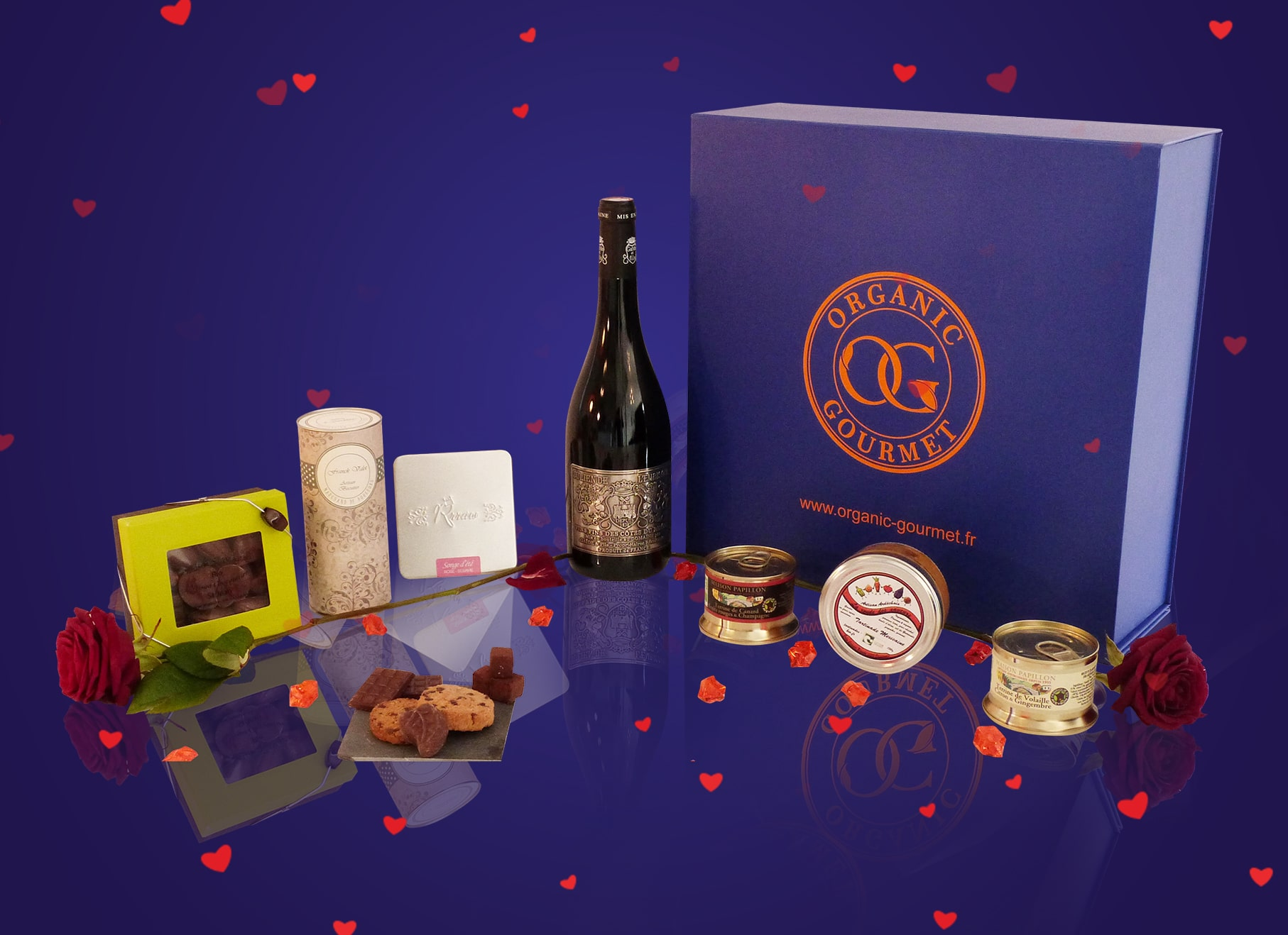 panier gourmand saint valentin coffrets gastronomiques bio. Black Bedroom Furniture Sets. Home Design Ideas
